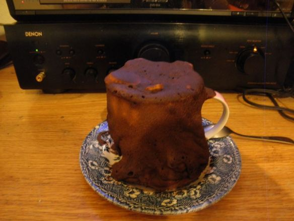 Beer Mug Cake gone wrong
